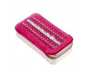 Luxury Lederetui, pink