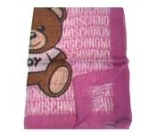Boutique Moschino Tuch All Over Print, Rosa