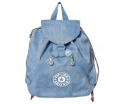 Kipling Rucksack Bustling, Washed Bl Denim