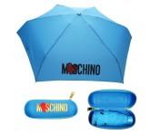 "Moschino Taschenschirm ""Heart Logo"" Supermini Automatik, Blau"