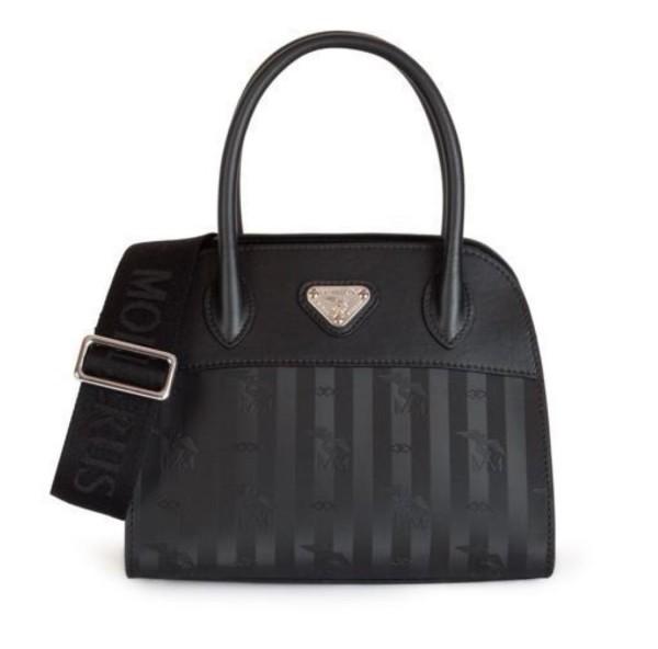 Maison Mollerus Vinerus Black Handtasche, Soglio Silber