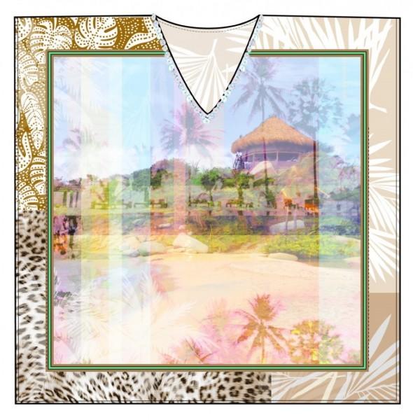 Codello Kaftan Digital Holiday, Multicolor 11049114