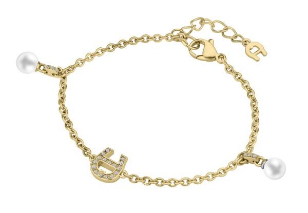 Aigner Armband mit Kristallen / Perlen, gold, A670118