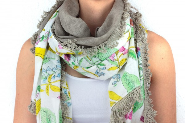 Codello Bahamas Style, Dreieckstuch mit Flowerprint, 71044806
