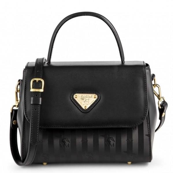 Maison Mollerus Vinerus Black Handtasche / Umhängetasche, Prilly Gold