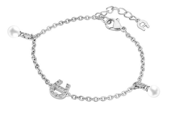 Aigner Armband mit Kristallen / Perlen, silber, A670117