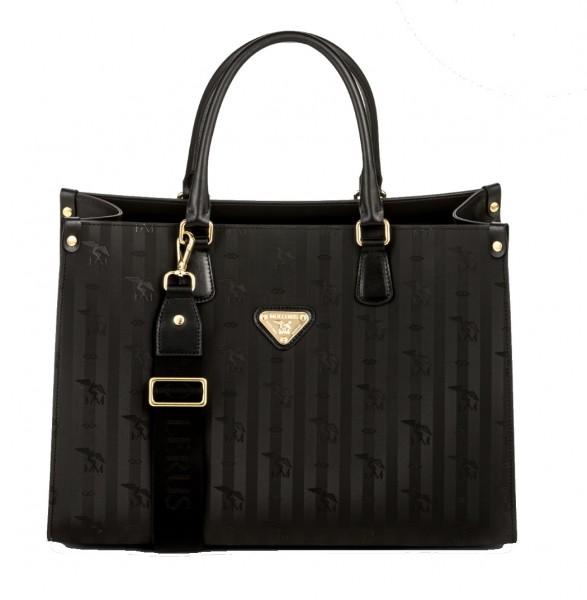 Maison Mollerus Vinerus Black Businesstasche, Zug Gold