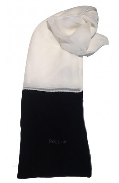 Pollini Seidentuch, Weiß / Schwarz