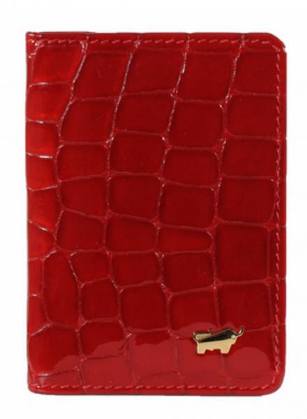 Braun Büffel Kreditkartenetui Verona Glanzkroko Rot, 40400