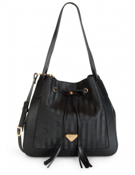 Maison Mollerus Vinerus Black Handtasche, Mettau Gold