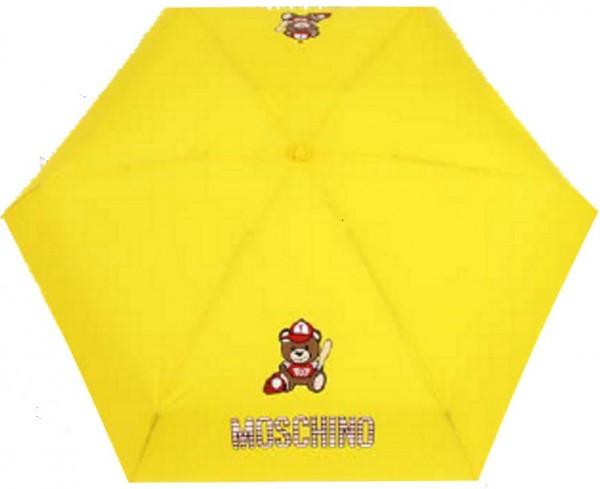 "Moschino Taschenschirm ""Baseball Bear"" Supermini mit Teddy Charm"