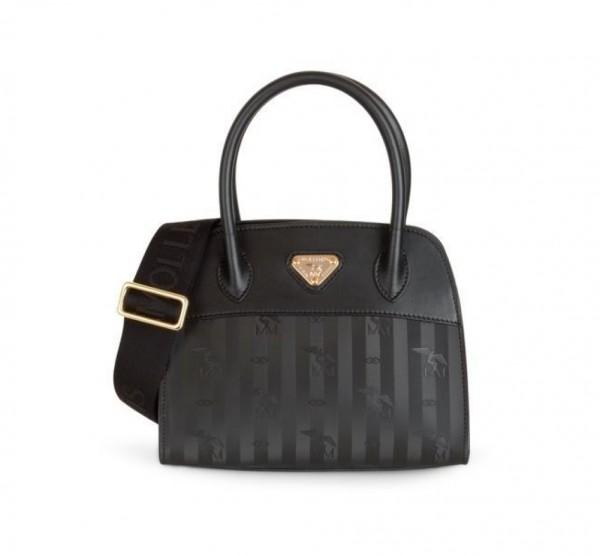 Maison Mollerus Vinerus Black Handtasche, Soglio Gold