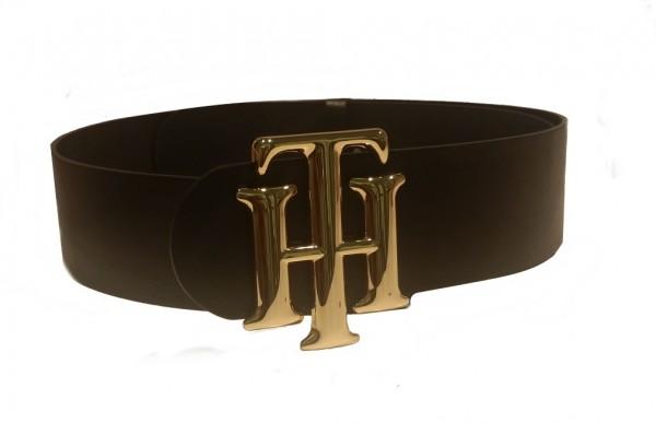 Tommy Hilfiger Logogürtel, Schwarz