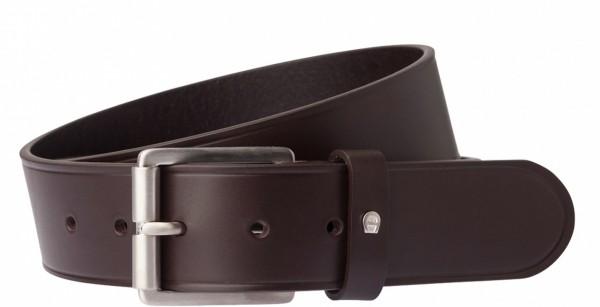 Aigner Gürtel Basic mit S-Schließe silber 127339, dunkelbraun