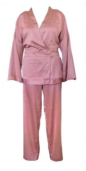 Emporio Armani Damen Pyjama / Schlafanzug lang alt rosa, Gr. L