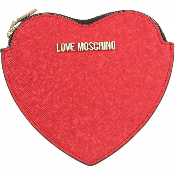 Love Moschino Geldbörse Herzförmig, Rot