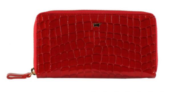 Braun Büffel Geldbörse mit RV Verona Glanzkroko Rot, 40155