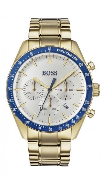 Hugo Boss Herren Uhr Trophy Edelstahl gold, 1513631