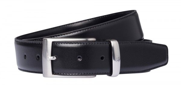 Aigner Gürtel Basic mit S-Schließe silber 126355, schwarz
