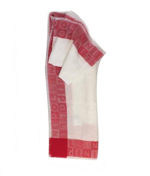 Pollini leichtes Sommertuch, Weiß / Rot