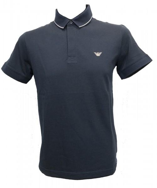 Emporio Armani Herren Polo Shirt, Dunkelblau 211804