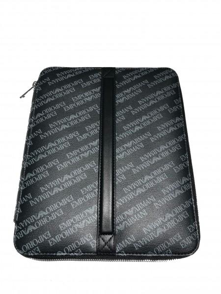 Emporio Armani All-Over Print Ipad Case Lavagna/Nero, Y4R175