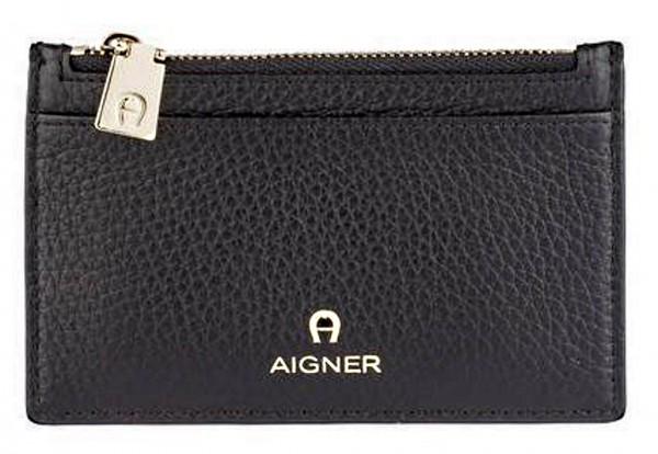Aigner Kartenetui / Mini Portemonnaie Ivy, Schwarz 150361