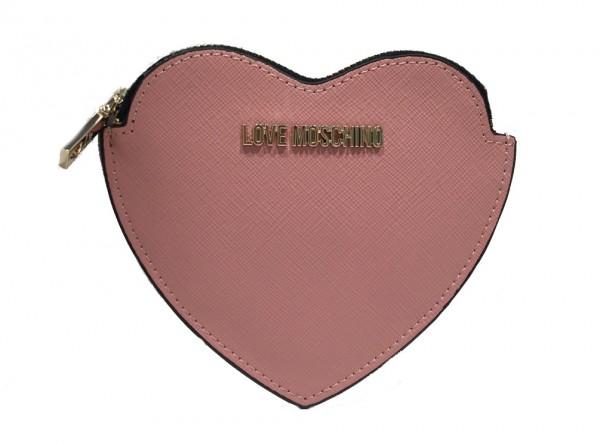 Love Moschino Geldbörse Herzförmig, Rosé