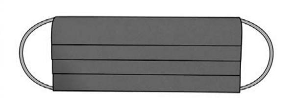 Codello Cover Up / Gesichts-Maske Solid, Dunkelgrau CU200601-29