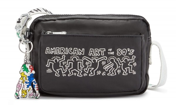 """Kipling Schultertasche Abanu """"by Keith Haring"""", KH Chalk"""