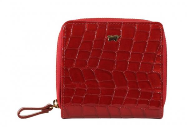 Braun Büffel Geldbörse Verona Glanzkroko Rot, 40150