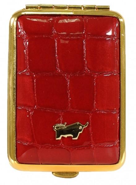 Braun Büffel Pillendose Verona Glanzkroko Rot, 40903