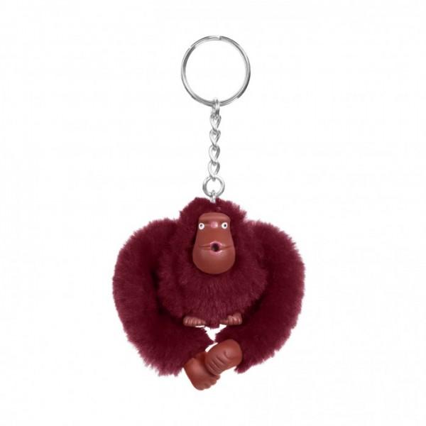 Kipling Taschen-/ Schlüsselanhänger, Affe Virgine, aubergine