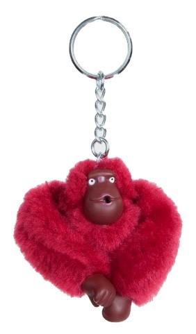 Kipling Taschenanhänger / Schlüsselanhänger, Affe Antonio - dunkelrot